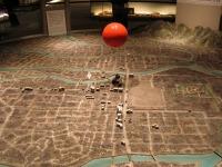 Musée d'Hiroshima - Maquette APRES l'explosion de la bombe