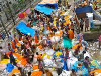 Marché aux fleurs, Calcutta