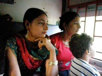 Souvenir du trajet en train vers Delhi
